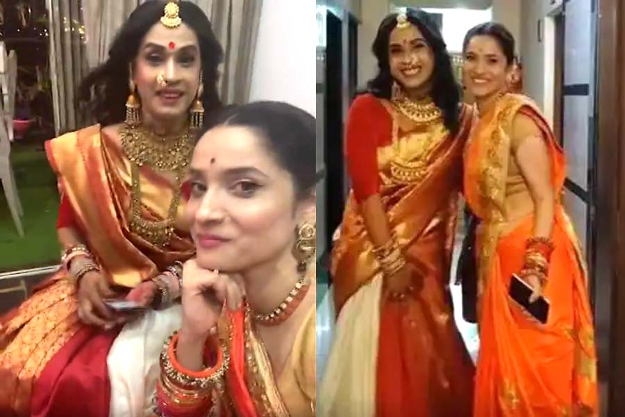 Ankita Lokhande s fun filled style with Kinnar Pooja Sharma